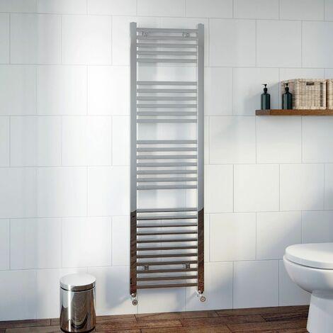 DuraTherm Heated Square Bar Towel Rail Chrome - 1600 x 450mm