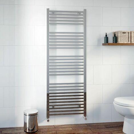 DuraTherm Heated Square Bar Towel Rail Chrome - 1600 x 600mm