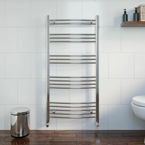 Duratherm Heated Towel Rail 1200 x 600mm Curved