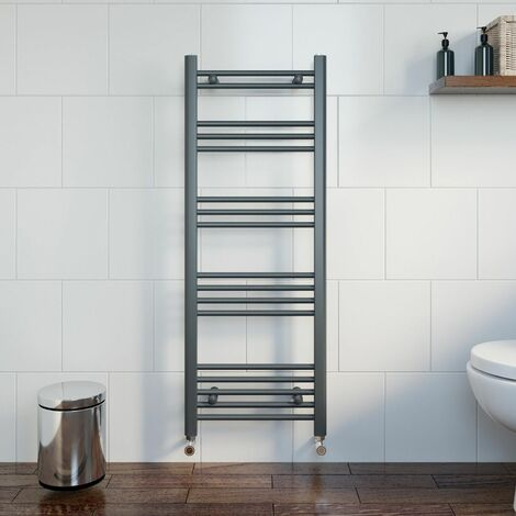 Duratherm Heated Towel Rail Anthracite 1200 x 450mm Flat
