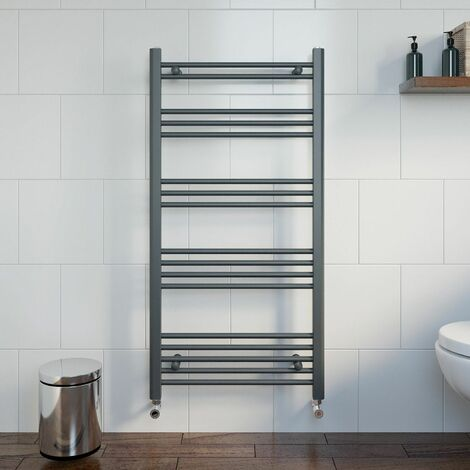 Duratherm Heated Towel Rail Anthracite 1200 x 600mm Flat