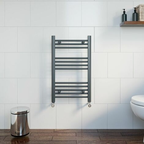 Duratherm Heated Towel Rail Anthracite 750 x 450mm Flat