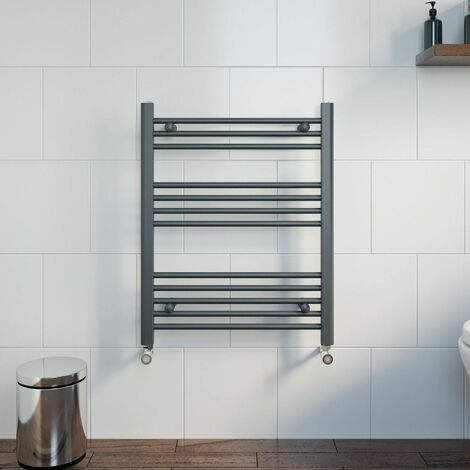 Duratherm Heated Towel Rail Anthracite 750 x 600mm Flat