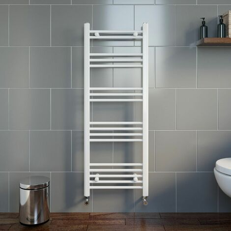 Duratherm Heated Towel Rail White 1200 x 450mm Flat