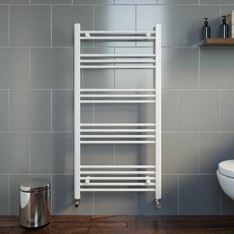 Duratherm Heated Towel Rail White 1200 x 600mm Flat