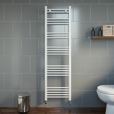 Duratherm Heated Towel Rail White 1600 x 450mm Flat