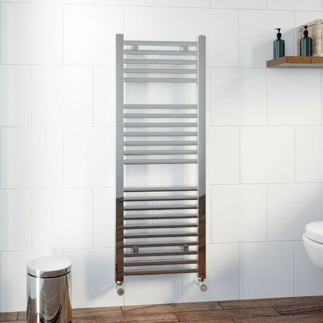 DuraTherm Square Bar Heated Towel Rail Chrome - 1200 x 450mm