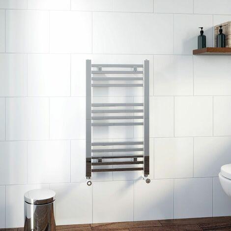 DuraTherm Square Bar Heated Towel Rail Chrome - 800 x 450mm