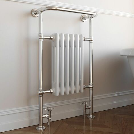 DuraTherm Traditional Heated Towel Radiator - 952mm x 568mm