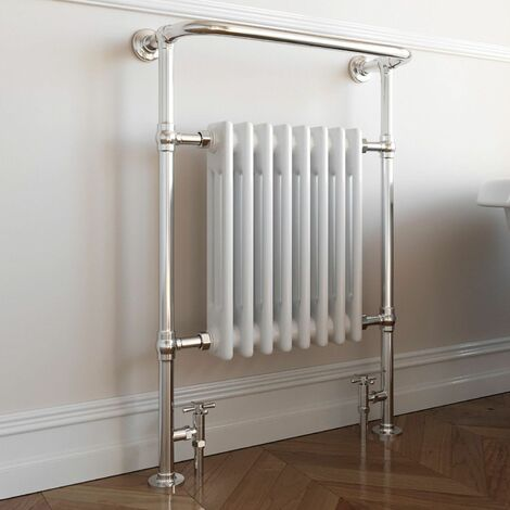 DuraTherm Traditional Heated Towel Radiator - 952mm x 659mm