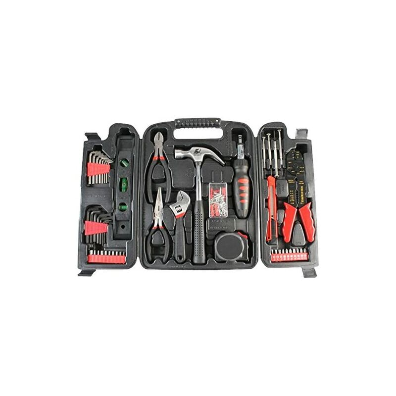Image of 14956TL Household Tool Kit in Blow Moulded Carry Case - Black (129-Piece) - Duratool