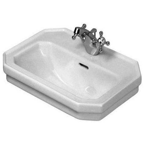 Duravit 1930 Handwaschbecken, 50x36,5cm, mit Überlauf, 1 Hahnloch, Farbe: Weiß - 0785500000