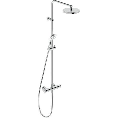 Duravit B.2 Système de douche avec thermostat de douche, douchette de tête 200 mm, douchette manuelle 97 mm - B24280008010