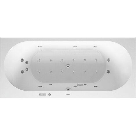 Duravit Baignoire balnéo Darling New 1800x800mm, version encastrée ou pour habillage de baignoire, 2 pentes arrière, cadre et trop-plein, Combi E - 760244000CE1000