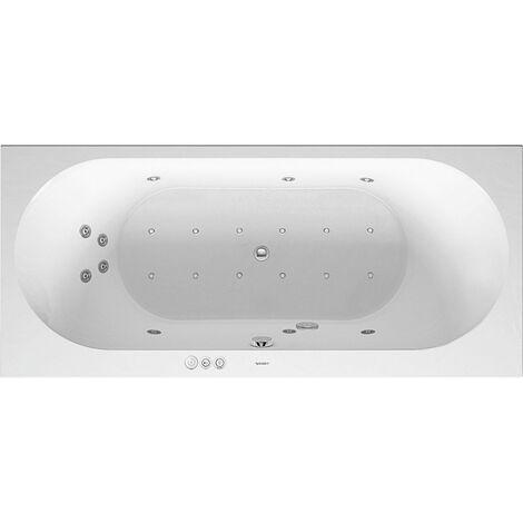 Duravit Baignoire balnéo Darling New 1800x800mm, version encastrée ou pour habillage de baignoire, 2 pentes arrière, cadre et trop-plein, Combi P - 760244000CP1000