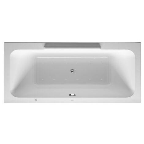Duravit Baignoire balnéo DuraStyle 1800x800mm, version encastrée ou pour habillage de baignoire, 2 pentes arrière, cadre, vidage et trop-plein, Combi E - 760298000CE1000