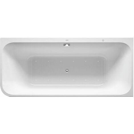 Duravit Baignoire balnéo Happy D.2 1800x800mm, angle droit, 2 pentes arrière, habillage acrylique moulé, cadre, ensemble de vidange et de trop-plein, système de ventilation - 760317000AS0000