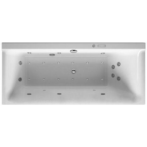 Duravit Baignoire balnéo P3 Comforts 1600 x 700 mm, rectangulaire, version encastrée, un dossier incliné à droite, cadre, vidage et trop-plein, Combi-System L - 760372000CL1000