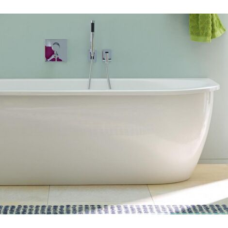 Duravit bathtub Darling New 190x90cm, corner left, 700246, with acrylic cover and frame - 700246000000000
