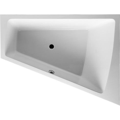 Duravit bathtub Paiova 170x100cm corner right, 700265, with moulded acrylic cladding and frame, white - 700265000000000