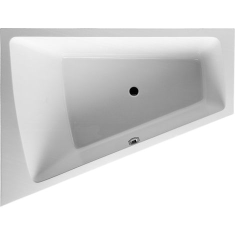 Duravit bathtub Paiova 180x140cm corner left, 700268, with moulded Acylverkleidung and frame, white - 700268000000000