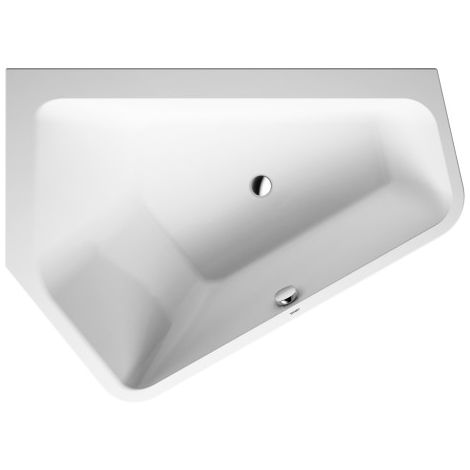 Duravit bathtub Paiova 5 corner left, 190x140cm, 700396, with seamless acrylic cover and frame, white - 700396000000000