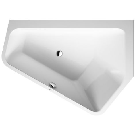 Duravit bathtub Paiova 5 corner right, 177x130cm, 700395, with seamless acrylic cover and frame, white - 700395000000000