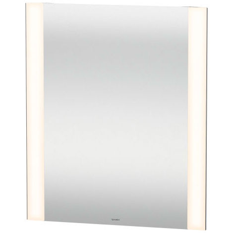Duravit Best mirror with illumination, with sensor circuit, mirror heating, LED edge light fields on the side