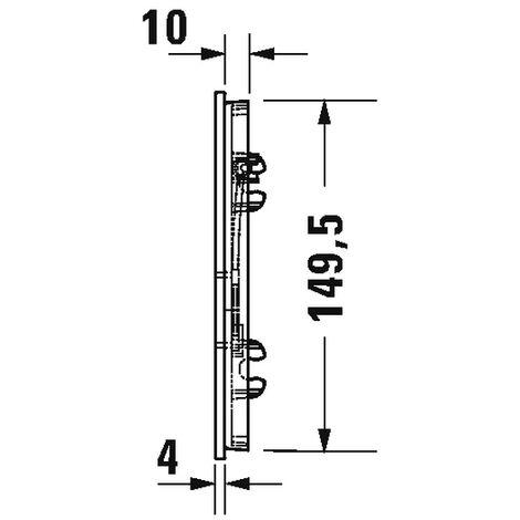 Duravit Betätigungsplatte A1, für Urinal 140, 5x157m Glas Weiß, WD5005012000
