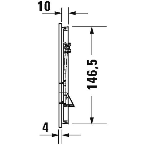 Duravit Betätigungsplatte A1, für WC, 229, 8x157m Glas Weiß, WD5002012000