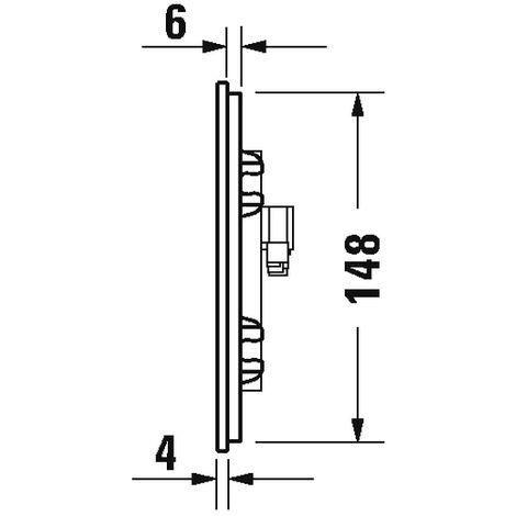 Duravit Betätigungsplatte A2, für WC, 229, 8x157m Glas Weiß, WD5003012000