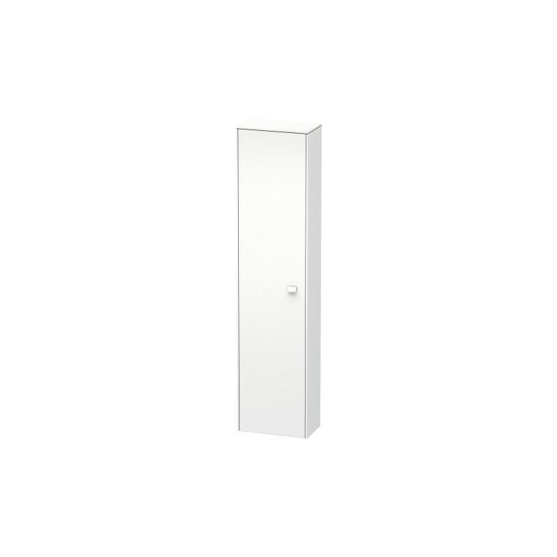 Brioso Armario alto 177,0x42,0x24,0 cm, 1 puerta, abatible a la izquierda, 1 balda de madera, 3 baldas de cristal, Color frente/cuerpo: Gris