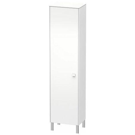 Duravit Brioso Half high cabinet Individual, 1 door, hinged left, 2 wooden shelves, 2 glass shelves, height min. 133, cm - max. 201.0 cm, width min. 27.0 cm - max. 52.0 cm, depth min. 19.6 cm - max. 35.9 cm, Colour (front/body): White Matt Decor, Handle W