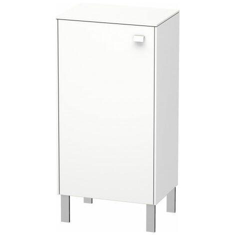 Duravit Brioso Half high cabinet Individual, 1 door, left-hinged, 2 glass shelves, height min. 61.0 cm - max. 91.0 cm, width min. 27.0 cm - max. 52.0 cm, depth min. 19.6 cm - max. 35.9 cm, Colour (front/body): walnut dark decor, chrome handle - BR1340L102