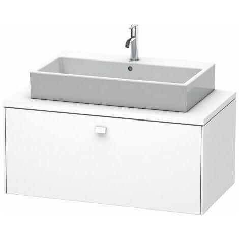 Duravit Brioso meuble-lavabo pour console 102,0 x 55,0 cm, 1 tiroir, Couleur (avant/corps): Décor marron foncé, poignée chromée - BR511401053