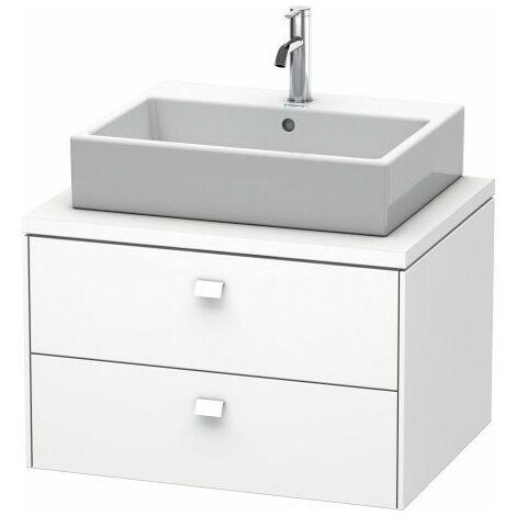 Duravit Brioso meuble-lavabo pour console 72,0 x 55,0 cm, 2 tiroirs, avec découpe pour siphon et tablier, Couleur (avant/corps): Décor Graphite Mat, Poignée Graphite Matt - BR511604949