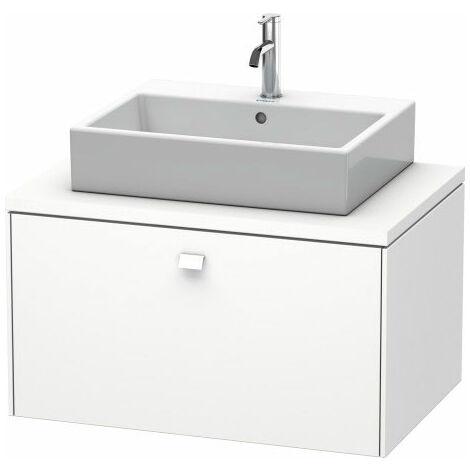 Duravit Brioso meuble-lavabo pour console 82,0 x 55,0 cm, 1 tiroir, Couleur (avant/corps): Basalt Matt Décor, Poignée Basalt Matt - BR511204343