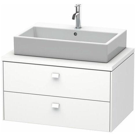 Duravit Brioso meuble-lavabo pour console 82,0 x 55,0 cm, 2 tiroirs, avec découpe pour siphon et tablier, Couleur (avant/corps): Décor blanc brillant, manche blanc brillant - BR511702222