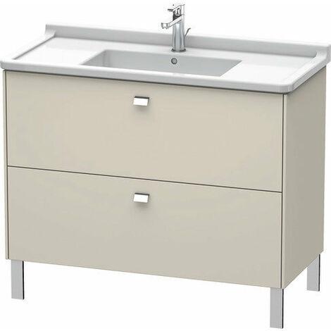 Duravit Brioso Meuble sous-lavabo sur pied Compact 102,0 x 46,9 cm, 2 tiroirs, avec découpe pour siphon et tablier, pour lavabo Starck 3 030410, Couleur (avant/corps): Décor cerisier du Tessin, manche chromé - BR442301073