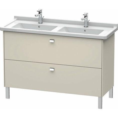 Duravit Brioso Meuble sous-lavabo sur pied Compact 122,0 x 46,9 cm, 2 tiroirs, avec découpe pour siphon et tablier, pour lavabo Starck 3 033213, Couleur (avant/corps): Décor lin, poignée chromée - BR442401075