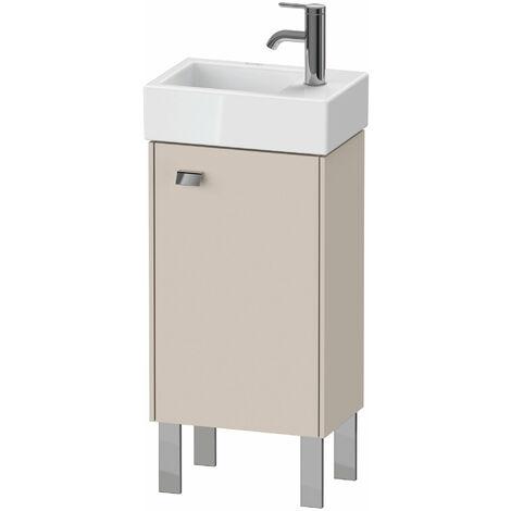 Duravit Brioso Mueble bajo mesada 36.4.0 x 23.9 cm, 1 puerta, con bisagra a la derecha, 1 balda de cristal, para lavabo Vero Air 072438, Color (frente/cuerpo): Decoración lino, mango cromado - BR4429R1075