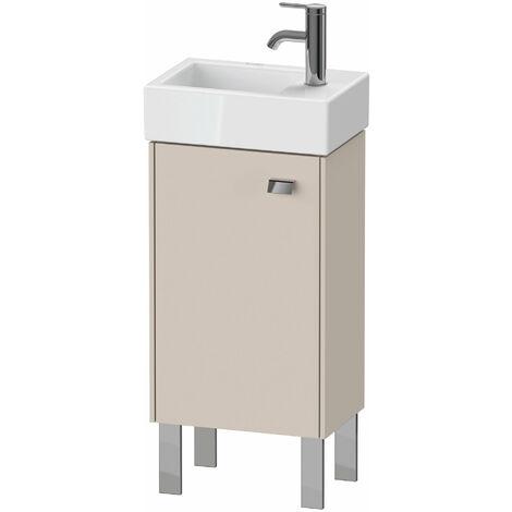 Duravit Brioso Mueble bajo mesada 36.4.0 x 23.9 cm, 1 puerta, con bisagra a la izquierda, 1 balda de cristal, para lavabo Vero Air 072438, Color (frente/cuerpo): Decoración lino, mango cromado - BR4429L1075