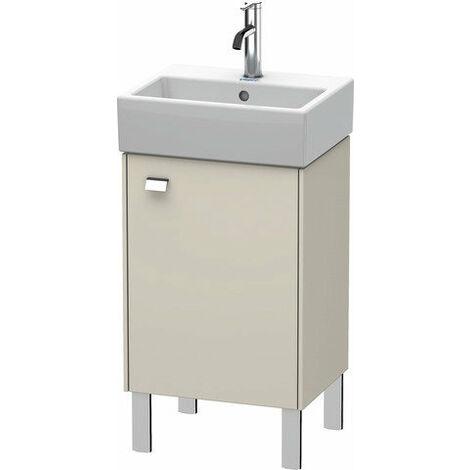 Duravit Brioso Mueble bajo mesada 43.4.0 x 33.9 cm, 1 puerta, con bisagra a la derecha, 1 balda de cristal, para lavabo Vero Air 072445, Color (frente/cuerpo): Decoración lino, mango cromado - BR4430R1075