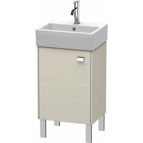 Duravit Brioso Mueble bajo mesada 43.4.0 x 33.9 cm, 1 puerta, con bisagra a la izquierda, 1 balda de cristal, para lavabo Vero Air 072445, Color (frente/cuerpo): Decoración lino, mango cromado - BR4430L1075