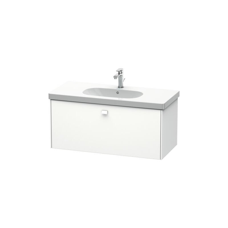 Brioso Neceser de pared 102,0 x 46,9 cm, 1 cajón, para lavabo D-Código 034210, Color frente/cuerpo: Nogal natural, mango cromado - BR404701079