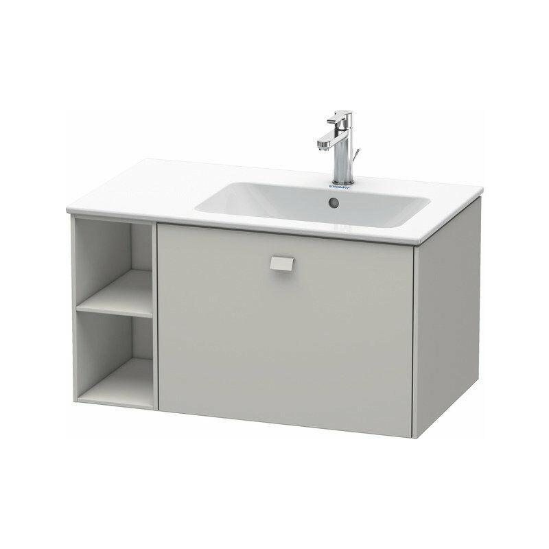 Brioso Neceser de pared 82,0 x 47,9 cm, 1 extraíble, estantería lateral, lavabo a la derecha, para lavabo ME by Starck 234683, Color frente/cuerpo: