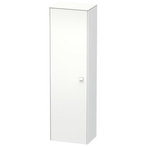 Duravit Brioso Tall cabinet 177,0x52,0x36,0 cm, 1 door, left-hinged, 1 wooden shelf, 3 glass shelves, Colour (front/body): European oak decor, chrome handle - BR1331L1052