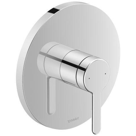 Duravit C.1 Mezclador monomando de ducha empotrado, roseta redonda, 1 consumidor - C14210010010