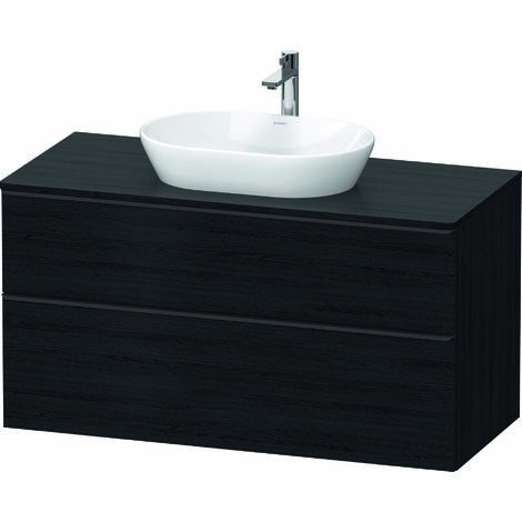 Duravit D-Neo, meuble sous-lavabo suspendu, largeur 1200 x profondeur 550mm, 2x tiroirs, avec poignée, DE49690, Coloris: Décor Taupe - DE496909191