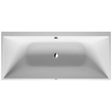 Duravit DuraSquare esquina derecha de la bañera, 180x80cm, revestimiento sin costuras, dos vertientes traseras, 700428 - 700428000000000